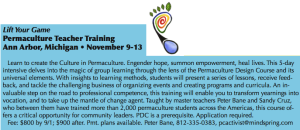 Permaculture Teacher Training Flyer